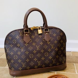 Authentic Louis Vuitton Alma Charcoal Gray/brown